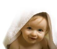 Bebê após o banho Imagens de Stock