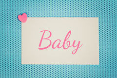 Bebé azul de la tarjeta de felicitación Imagenes de archivo