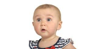 Bebê bonito surpreendido Imagem de Stock Royalty Free
