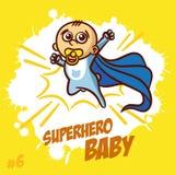 Bebê Clipart do super-herói Fotos de Stock