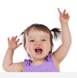 Bebê com bandeira Fotos de Stock