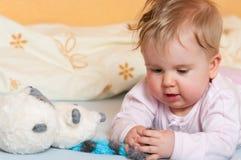 Bebê com brinquedos Imagem de Stock