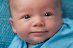 Bebé com olhos azuis Imagens de Stock Royalty Free