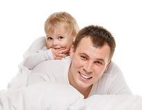 Bebê com seu paizinho Imagens de Stock Royalty Free