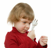 Bebé con el alambre Imágenes de archivo libres de regalías