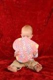 Bebé con el corazón Imágenes de archivo libres de regalías