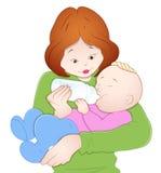Bebé con la madre Fotos de archivo