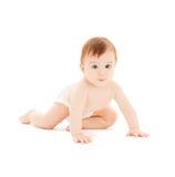Bebé curioso de arrastre Imagen de archivo libre de regalías