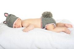 Bebê da beleza no traje do coelho Fotos de Stock