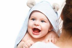 Bebê da terra arrendada da matriz Fotografia de Stock Royalty Free
