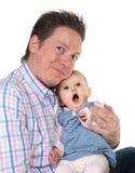 Bebê de bocejo Fotos de Stock Royalty Free