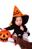 Bebê de Dia das Bruxas Imagem de Stock