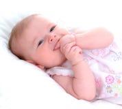 Bebé de la dentición Fotos de archivo