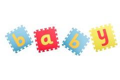 Bebé de la palabra Foto de archivo libre de regalías