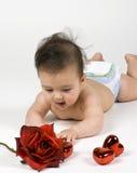 Bebé de la tarjeta del día de San Valentín Imagenes de archivo