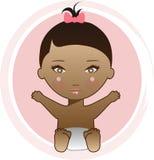 Bebé del afroamericano Foto de archivo