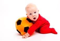 Bebé del fútbol Foto de archivo libre de regalías