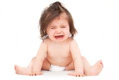 Bebê do grito Fotos de Stock