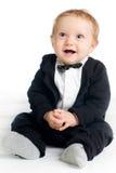 Bebé dulce en tailcoat Fotos de archivo