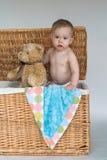 Bebê e peluche Imagem de Stock Royalty Free