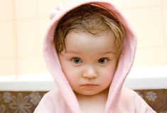 Bebé en baño Fotografía de archivo