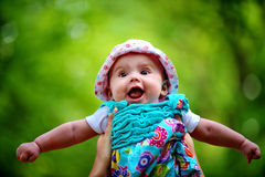 Bebé en el aire Fotografía de archivo