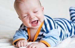 Bebé feliz lindo Imagen de archivo