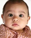 Bebé hispánico hermoso Imagenes de archivo