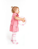 Bebé lindo con impulso Fotografía de archivo