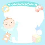 Bebé lindo en tarjeta de felicitación vacía Foto de archivo libre de regalías