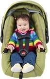 Bebê no assento de carro Fotos de Stock