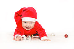 Bebé Papá Noel Fotos de archivo