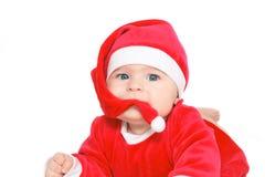 Bebê Papai Noel Foto de Stock
