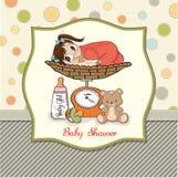 Bebé pesado na escala Imagens de Stock Royalty Free