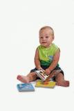 Bebê que diz a história Fotografia de Stock Royalty Free