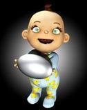 Bebé que sostiene un huevo Imágenes de archivo libres de regalías