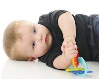 Bebê satisfeito Imagem de Stock Royalty Free