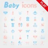 Bebé Sistema del icono Foto de archivo libre de regalías
