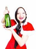 Beba el champán en la Navidad y el Año Nuevo Fotografía de archivo libre de regalías