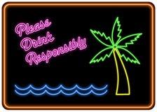 Beba por favor responsàvel o sinal de néon Imagens de Stock
