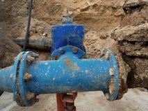 Beba válvulas de porta das tubulações de água e membros juntados da redução Finished reparou Imagens de Stock Royalty Free