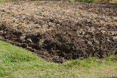 Bebauter Boden im Ackerland Stockfotografie