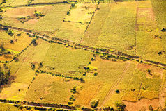 Bebauter Land-Luftschuß in Ecuador Stockfotos