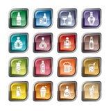 Bebe ícones Imagem de Stock