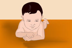 Bebe boy. Bebe representation in this graphic illustration Royalty Free Stock Photography