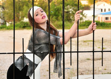 Bebe dans la cage Images libres de droits