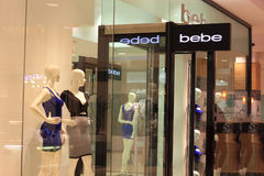 Bebe fashion clothing Store Stock Photo