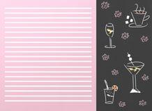 Bebe o menu Fotografia de Stock Royalty Free