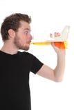 Bebedor de cerveja Imagens de Stock