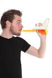 Bebedor de cerveza Imagenes de archivo